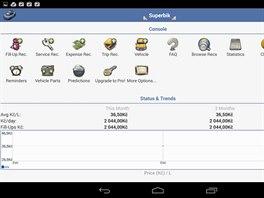 V přehledném prostředí aplikace aCar si můžete vést přesnou statistiku nákladů...