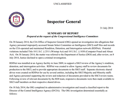 Vrchn� inspektor CIA vydal souhrn poznatk� z�skan�ch vy�et�ov�n�m incidentu.