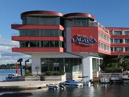 Mořský aquapark Laguna nabízí celou řadu atrakcí, od skluzavek až po bazény a