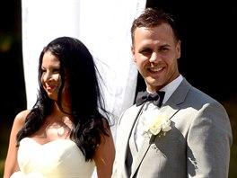 David Krejčí a Naomi Starr se vzali v Šternberku (2. srpna 2014).