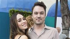 Megan Foxov� a jej� man�el Brian Austin Green na premi��e filmu �elvy Ninja...