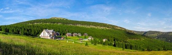 pohled na celý Resort Sv. František z místní sjezdovky