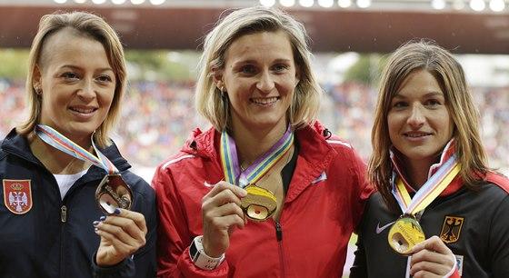 ŠAMPIONKA. Barbora Špotáková už má ve sbírce i poslední zlatou medaili, která