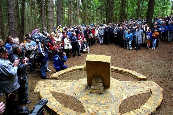 Kříž smíření - památník masakru Němců při odsunu v roce 1945 v Teplicích nad...