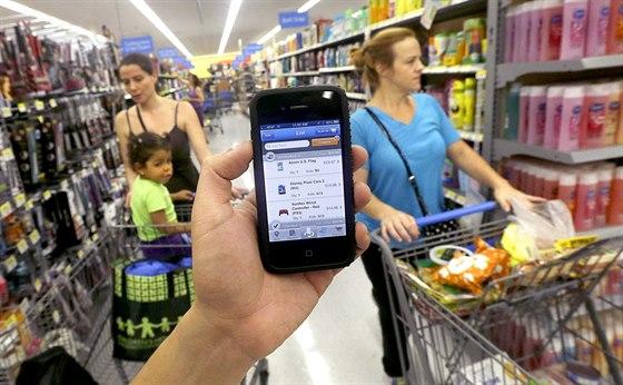 Nákupní mobilní aplikace Scan & Go amerického řetězce Walmart