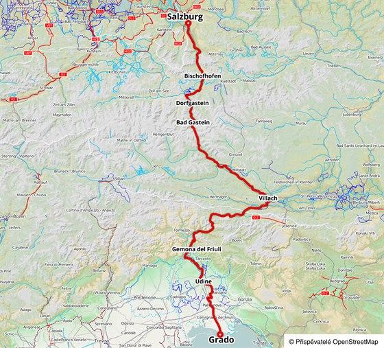 Cyklostezka Alpe Adria z rakouského Salzburgu do italského Grada