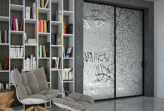 Pískované sklo může v interiéru vypadat zajímavě.