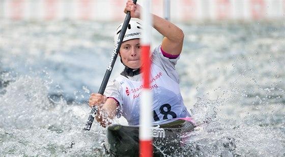 Kajakářka Karolína Galušková si dojela ve finále Světového poháru ve vodním...