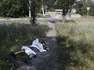 Tělo chlapce, který podle místních zemřel při ostřelování Doněcku  vládními...