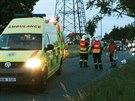 Motorkář u obce Zvole narazil při předjíždění do protijedoucího vozu. S vážnými...
