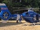 Policisté prohledávali Klánovický les, do akce nasadili také vrtulník s...