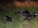 Řidič motocyklu nedal v Tuchoměřicích přednost projíždějícímu autu, při srážce...