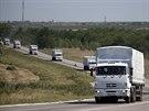 Konvoj s ruskou humanitární pomocí.