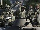 Proruští separatisté operující na východě Ukrajiny (18. srpna)