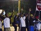 Zprvu pokojný protest si vynutil zásah bezpečnostních složek ve chvíli, kdy...