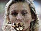 Oštěpařka Barbora Špotáková vybojovala na mistrovství Evropy v Curychu zlato,
