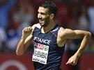Francouz Mahiedine Mekhissi-Benabbad vyhrál na ME v Curychu závod na 1500 metrů.