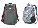 Batohy High Sierra jsou uzpůsobeny na každodenní nošení do školy