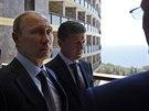 Ruský prezident Vladimir Putin na návštěvě anektovaného Krymu (14. srpna 2014)