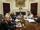 Bezpe�nostn� rada USA �e�ila v pond�l� za p��tomnosti prezidenta Baracka Obamy...