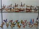 Ukázka starých krounských hraček ze sbírky Františka Kyncla.