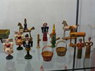 Ukázka starých hraček ze Skašova na Šumavě ze sbírky Františka Kyncla.