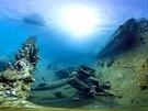 Vrak star� lodi u karibsk�ho ostrova Aruba