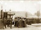 Slavnostn� p��saha a sv�cen� praporu �esk� dru�iny v Kyjev�, 11. ��jna 1914.