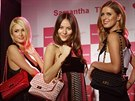 Paris Hiltonov�, japonsk� modelka Jessica Michibata a Nicky Hiltonov� na promo...
