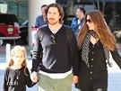 Christian Bale s manželkou a dcerou