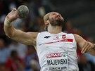 Tomasz Majewski ve finále koulařů na mistrovství Evropy v Curychu.