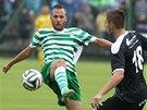 Momentka z pohárového utkání Olympia Hradec Králové - FC Hradec Králové