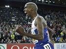Mo Farah vítězí na mistrovství Evropy v Curychu v běhu na 10 000 metrů.