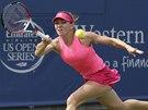 MÁM. Simona Halepová na turnaji v Cincinnati.