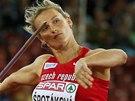 SOUSTŘEDĚNÍ. Barbora Špotáková ve finále oštěpařek na mistrovství Evropy v Curychu.