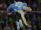 Bohdan Bondarenko ve výškařském finále na mistrovství Evropy v Curychu.