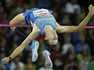 Andrij Procenko ve výškařském finále na mistrovství Evropy v Curychu.