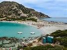 Punta Molentis u Villasimius je skvělá i pro malé děti.