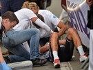 Zdeněk Štybar ošklivě upadl ve finiši čtvrté etapy na Eneco Tour a ocitl se v...
