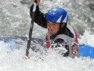 Kate�ina Ho�kov� na fin�lov�m z�vodu SP ve vodn�m slalomu