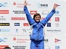 Kateřina Hošková na závodu SP ve vodním slalomu v Augsburgu skončila třetí a...