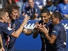 Oslava gólu v podání hráčů Paris St. Germain
