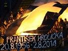 Fanoušci sektoru 15 uctili památku zesnulého teplického ředitele Františka...