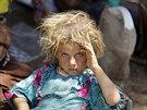 Mnoho jezídů uteklo do kurdské provincie Dahúk (Irák, 13. srpna 2014).