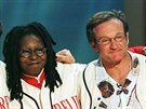 Billy Crystal, Whoopi Goldbergová a Robin Williams v roce 1998