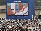 Papež před milionovým davem blahořečil korejské mučedníky (16. 8. 2014).
