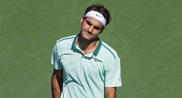 Roger Federer ve finále turnaje v Torontu.