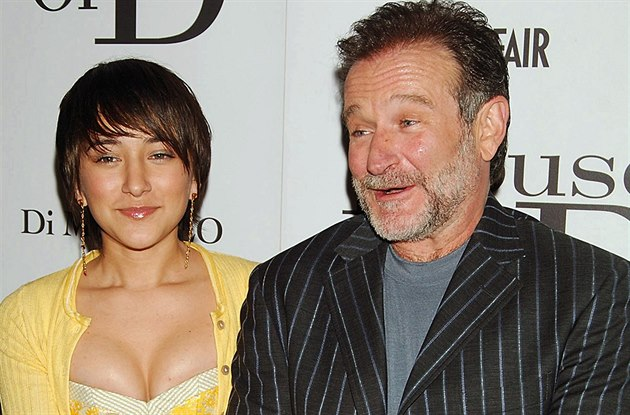 Robin Williams a jeho dcera Zelda (New York, 10. dubna 2005)