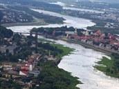 Řeka Niemen a staré město v Kaunasu