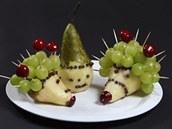 Servírování ovoce, ovocný ježek
